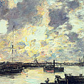 The Port by Eugene Louis Boudin