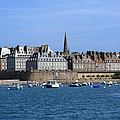 The Port Of St Malo France by Aidan Moran