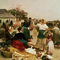 The Poultry Market by Lajos Deak Ebner