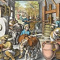 The Production Of Olive Oil, Plate 13 by Jan van der Straet