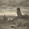 The Prophet Slain By A Lion by Antique Engravings