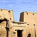 The Pylons Of Edfu Temple by Brenda Kean