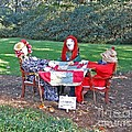 The Quilting Bee Scarecrows by Marian Bell