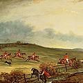 The Quorn In Full Cry Near Tiptoe Hill by John E Ferneley