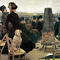 The Races At Auteuil by Giuseppe Nittis