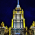 The Raddison-stalin's Wedding Cake Architecture-in Moscow-russia by Ruth Hager