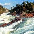 The Raging Rapids by Peder Mork Monsted