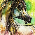 The Rainbow Colored Arabian Horse by Angel Ciesniarska