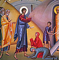 the raising of Lazarus from the dead by Munir Alawi