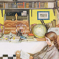 The Reading Room, Pub. In Lasst Licht by Carl Larsson