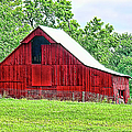 The Red Barn - Featured In Old Buildings And Ruins Group by Ericamaxine Price