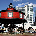 The Red Beacon From Baltimore Harbor by Christiane Schulze Art And Photography