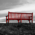 The Red Bench by Mountain Dreams