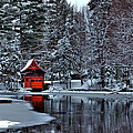 The Red Boathouse - Old Forge Ny by David Patterson