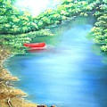 The Red Canoe by Connie Townsend