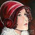 Red Cloche by Barbara Chase
