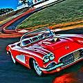 The Red Corvette by Florian Rodarte