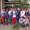The Red Hat Ladies At The Catfish Plantation by Donna Wilson