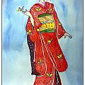 The Red Kimono by Sarabjit Kaur