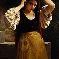 The Red Ribbon by William Adolphe Bouguereau