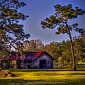 The Red Roof Barn by Marvin Spates