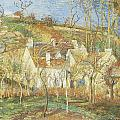 The Red Roofs Corner Of A Village Winter by Camille Pissarro