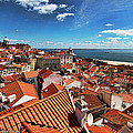 The Red Roofs Of Lisbon #2 by Aleksander Rotner
