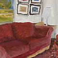 The Red Sofa by William Van Doren