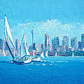 The Regatta Sydney Habour By Jan Matson by Jan Matson