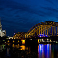 The Rhine Rail Bridge And Cathedral Of Cologne by Dray Van Beeck