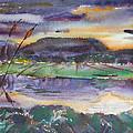 The River At Dusk by Stefano Popovski