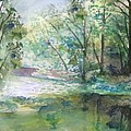 The River Going Out From The Forest by Christian Simonian