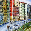 The Riverside Houses At Bilbao La Vieja by Zaira Dzhaubaeva