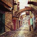 The Road To The Cross  Jerusalem by Graham Braddock