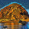 The Rock At Morro Bay Abstract by Barbara Snyder