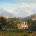 The Rocky Mountains Landers Peak by Albert Bierstadt