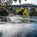 The Rogue River At Gold Hill Bridge by Mick Anderson