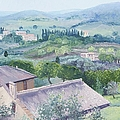 The Rolling Hills Of Tuscany by Jan Matson