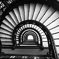 The Rookery Staircase In Black And White by Kelly Hazel