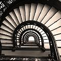 The Rookery Staircase In Sepia Tone by Kelly Hazel