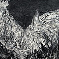 The Rooster - Oil Painting by Fabrizio Cassetta
