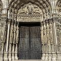 The Royal Portal At Chartres by Olivier Le Queinec