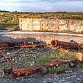 The Ruins Of A Ww2 Cannon And Bunkers by Gill Billington