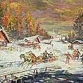 The Russian Winter by Konstantin Korovin