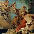 The Sacrifice Of Isaac by Giovanni Domenico Tiepolo