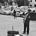 The Saxman In Black And White by Rob Hans