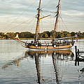 The Schooner Sultana On The Chester River At Chestertown Maryland by William Kuta