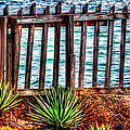 The Sea Fence Siesta Key Fla. by Tom Prendergast