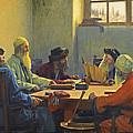 The Seven Rabbis In Jerusalem by Theodoros Rallis
