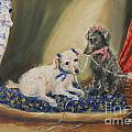 The Sewing Basket- Homeless Poodle Painting Violano by Stella Violano